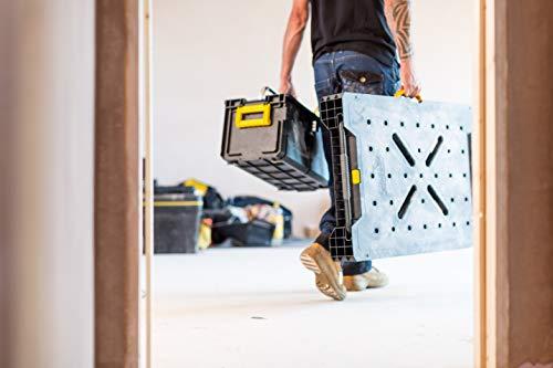 Stanley FatMax klappbare Werkbank / Express Werkbank (bis 455kg belastbar, mit Metallbeinen für höchste Stabilität, große Arbeitsfläche, mit praktischem Tragegriff, für schnellen Aufbau) FMST1-75672 - 13