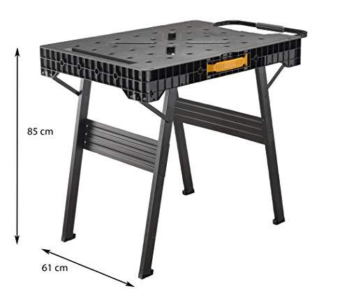 Stanley FatMax klappbare Werkbank / Express Werkbank (bis 455kg belastbar, mit Metallbeinen für höchste Stabilität, große Arbeitsfläche, mit praktischem Tragegriff, für schnellen Aufbau) FMST1-75672 - 9