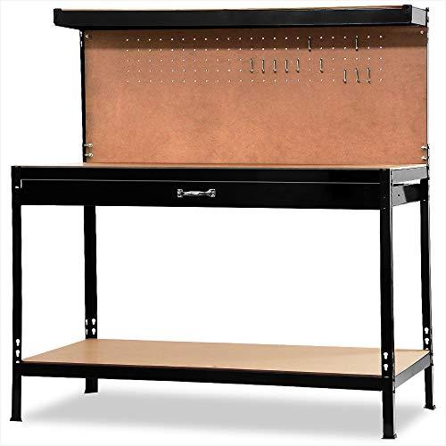 Werkbank Deuba® ✔ XXL 150x120x60cm ✔ Lochwand ✔ Profi Ausführung – Werkstatttisch Packtisch Werktisch - 7