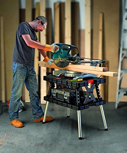 Keter 17182239  Werkzeugbank Master Pro Serie Folding Work Table,  Kunststoff, schwarz / gelb - 8