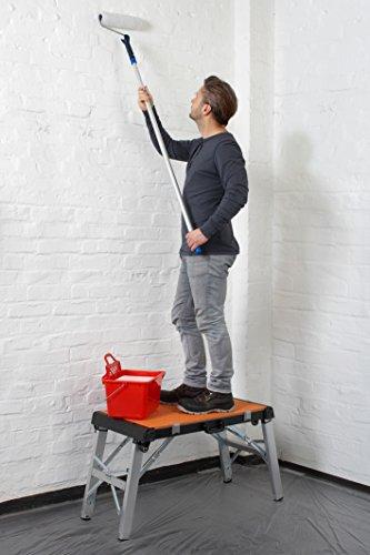 Meister Universal-Werkbank 4 in 1 ✓ Tritt-Hocker ✓ Rollbrett ✓ Transportroller   Mobiler Arbeitstisch mit Tragegriff   Höhenverstellbare Werkzeugbank   Werktisch mit wendbarer Arbeitsplatte   9079600 - 5