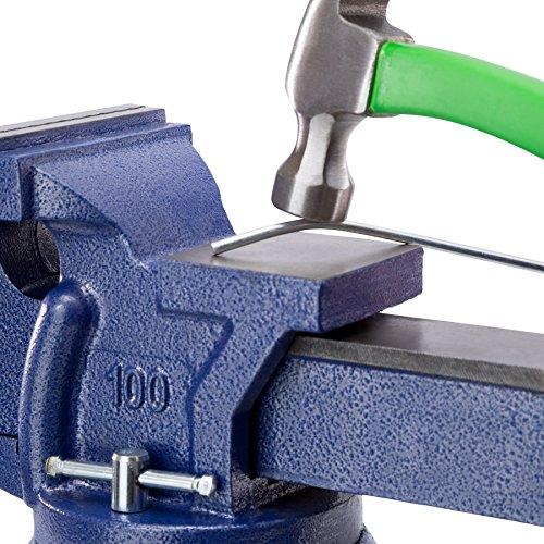 TecTake Schraubstock Amboss 360° drehbar mit Drehteller für Werkbank – diverse Größen – (Spannweite 125 mm | Nr. 401124) - 4