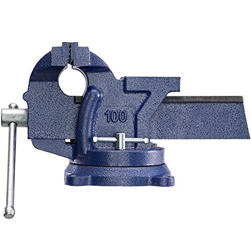TecTake Schraubstock Amboss 360° drehbar mit Drehteller für Werkbank – diverse Größen – (Spannweite 125 mm | Nr. 401124) - 9