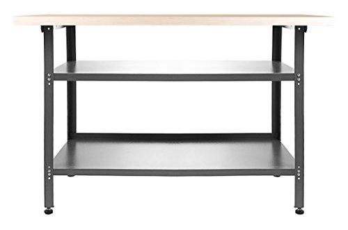Ondis24 Montagewerkbank Werkstatteinrichtung Werkstatt Werkbank Werktisch Packtisch Basic mit höhenverstellbaren Füßen