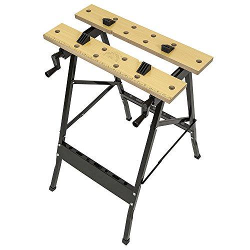 TecTake Werkbank A Gestell klappbar Tisch mit Klemme - 2