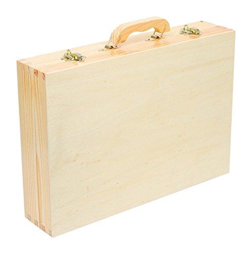 """Werkzeugkoffer """"Deluxe"""" aus Holz, mit 48 Teilen für kleine Heimwerker ab 8 Jahren, das passende Werkzeug für die notwendige Reparatur - 7"""