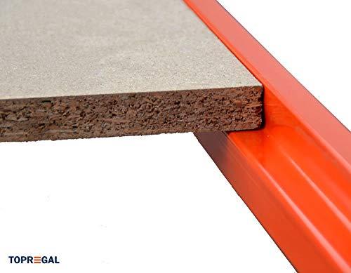 Werkbank fahrbar, Packtisch mit Holzboden verschiedene Breiten/Höhen/Tiefen/Ebenen (120/104/60cm (B/H/T), 2 Ebenen) - 8