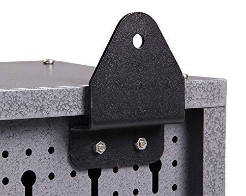 Ondis24 Werkstatteinrichtung Werkstatt Werkbank 120 cm breit mit höhenverstellbaren Füßen und passender Werkzeugschrank 120 cm breit mit 2 Ablagen, abschließbare Türen - 9