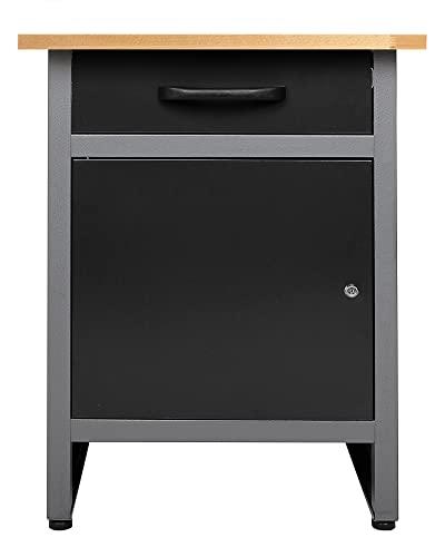 Ondis24 Werkbank Werktisch Werkstatteinrichtung mit Schublade und Tür abschließbar 60 x 60 cm Arbeitshöhe 85 cm