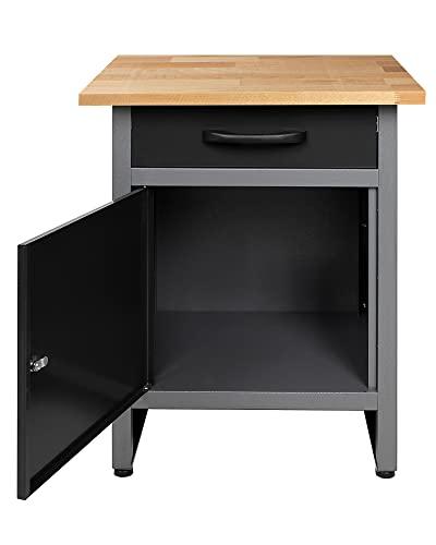 Ondis24 Werkbank Werktisch Werkstatteinrichtung mit Schublade und Tür abschließbar 60 x 60 cm Arbeitshöhe 85 cm - 2