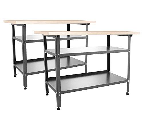 Ondis24 2x Montagewerkbank Werkstatteinrichtung Werkstatt Werkbank Werktisch