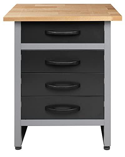 Ondis24 Werkbank Werktisch Werkstatteinrichtung mit 4 Schubladen 60 x 60 cm Arbeitshöhe (85 cm)
