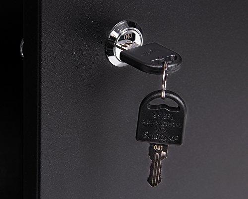 Ondis24 Montagewerkbank mit 2 geschlossenen Türen und 2 Schubläden, Werkstattschrank mit offenem Mittelteil, Eurlochung Schlüssellochung Werkzeugwand mit 22 Werkzeughalter - 5
