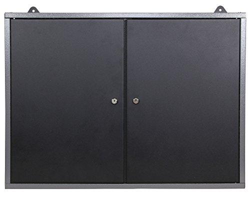 Ondis24 Montagewerkbank mit 2 geschlossenen Türen und 2 Schubläden, Werkstattschrank mit offenem Mittelteil, Eurlochung Schlüssellochung Werkzeugwand mit 22 Werkzeughalter - 8