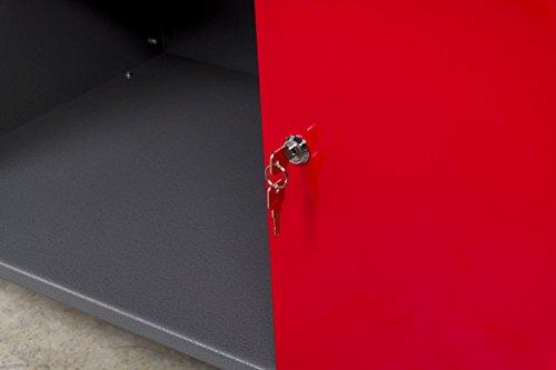 Große Werkstatteinrichtung bestehend aus 2 x Werkbank mit 2 abschließbaren Türen, 2 x Werkstattschrank mit zwei abschließbaren Türen und 2 x Lochwand Metall mit 14tlg. Hakensortiment. Topp Preis / Leistungsverhältnis - 9