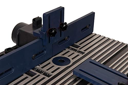 FERM PRA1011 Oberfräsetisch – Mit Staubsaugeranschluss -Verstellbare Winkelführung – Universal: für Oberfräser mit Standfuß bis 162 mm - 7