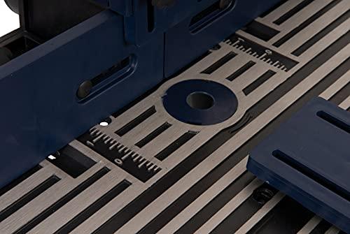 FERM PRA1011 Oberfräsetisch – Mit Staubsaugeranschluss -Verstellbare Winkelführung – Universal: für Oberfräser mit Standfuß bis 162 mm - 8