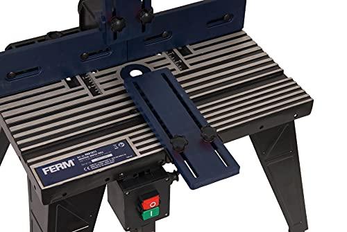 FERM PRA1011 Oberfräsetisch - Mit Staubsaugeranschluss -Verstellbare Winkelführung - Universal: für Oberfräser mit Standfuß bis 162 mm - 8