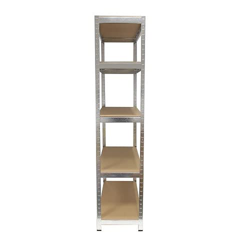 Grafner® Schwerlastregal 5 Ebenen Werkstattregal 1,72m Kellerregal Steckregal bis 375 kg - 9