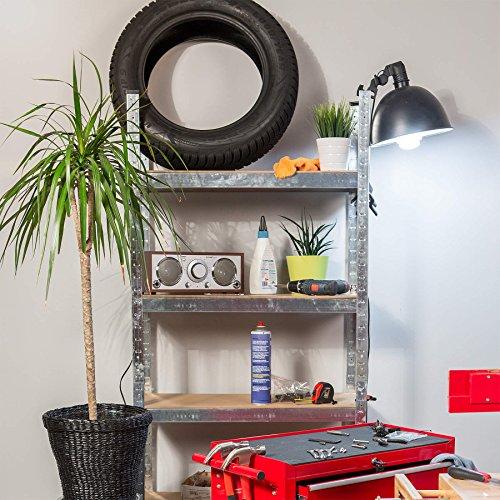TecTake Werkstattregal mit 8 Ablagen 640kg Gesamttraglast Steckregal Lagerregal Werkbank Garage 160x160x40cm - 2