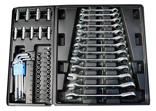 Werkzeugwagen Werkstattwagen Werkzeugkasten Werkzeugkiste + Werkzeug 220 tlg. - 7