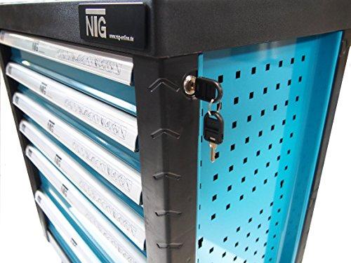 Werkzeugwagen Werkstattwagen Werkzeugkasten Werkzeugkiste + Werkzeug 220 tlg. - 5