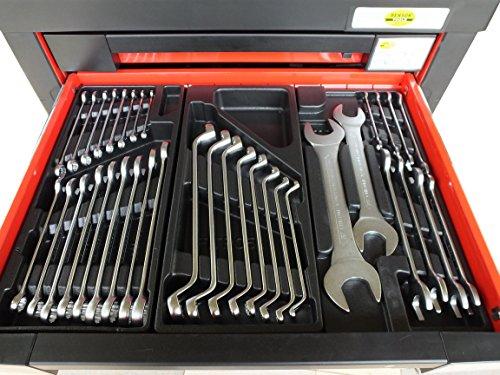 Bensontools Werkstattwagen 542 teilig Werkzeugwagen gefüllt Werkzeug 7 Kugelgelagerte Laden, 1 Stück, XL, 6333 - 5