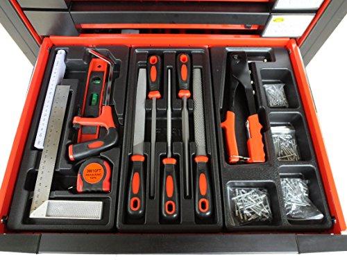 Bensontools Werkstattwagen 542 teilig Werkzeugwagen gefüllt Werkzeug 7 Kugelgelagerte Laden, 1 Stück, XL, 6333 - 8