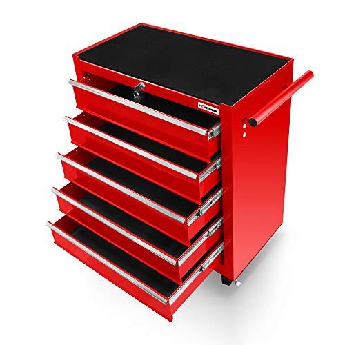 Holzinger Werkzeugwagen HWW1005KG – kugelgelagert (5 Schubfächer) - 2