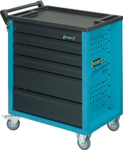 HAZET Werkstattwagen Assistent (4 flache und 2 hohe Schubladen, Traglast pro Schublade 20 kg, Gesamttragkraft (statisch): 300kg) 177-6 - 2