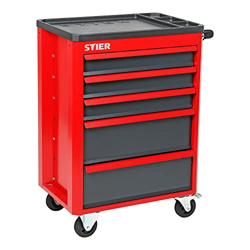 STIER Werkstattwagen Basic+, mit Kunststoffabdeckung, unbestückt - leer, Werkzeugwagen - Montagewagen, Max. Belastung