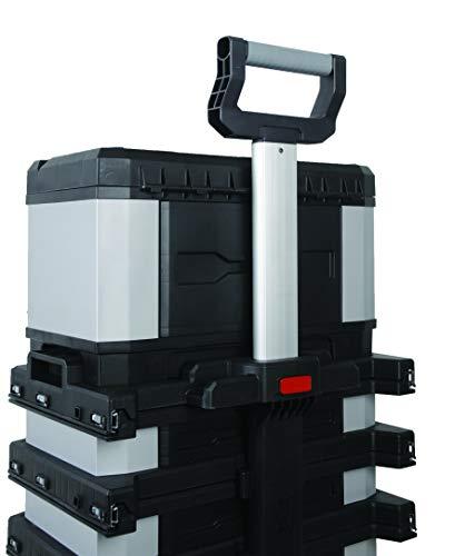 Stanley FatMax Rollende Werkstatt aus Metall-Kunststoff 1-95-622 – Werkzeugwagen leer – Vielseitige Werkzeugbox für Kleinteile und große Werkzeuge - 15