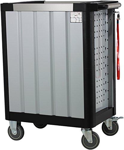 Ultra Edition Werkstattwagen | 7 Schubladen – 5 gefüllt mit Handwerkzeug | Werkzeugwagen abschließbar + COB Akku Arbeitsleuchte - 5