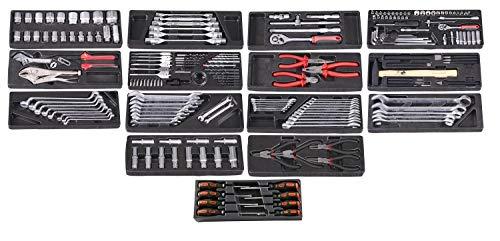 Werkstattwagen, 7 Schubladen, blau, gefüllt mit 15 Werkzeugsätzen - 2